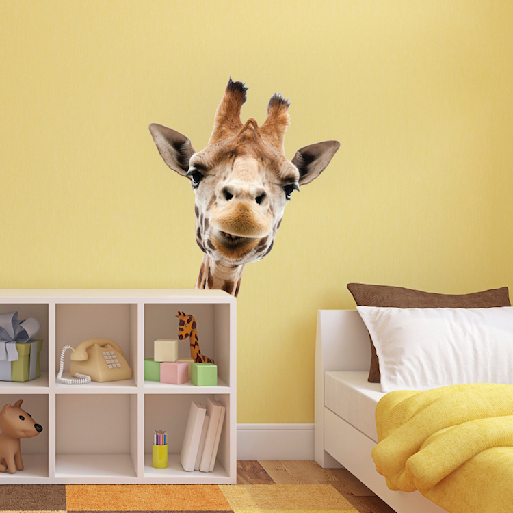 giraffe wall mural decal - animal wall decal murals - primedecals