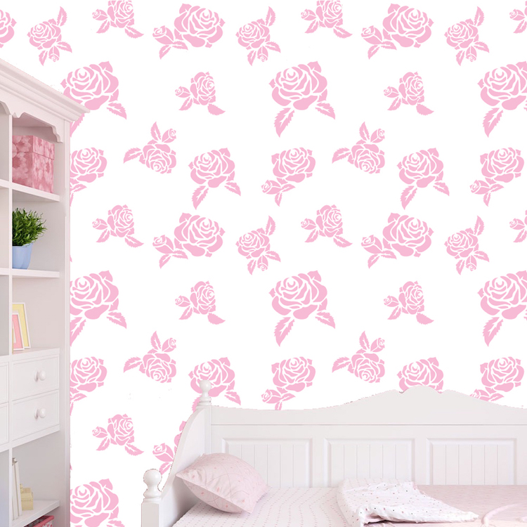 Custom Rose Color Removable Wallpaper Self Adhesive Flower Decal Mural Primedecals