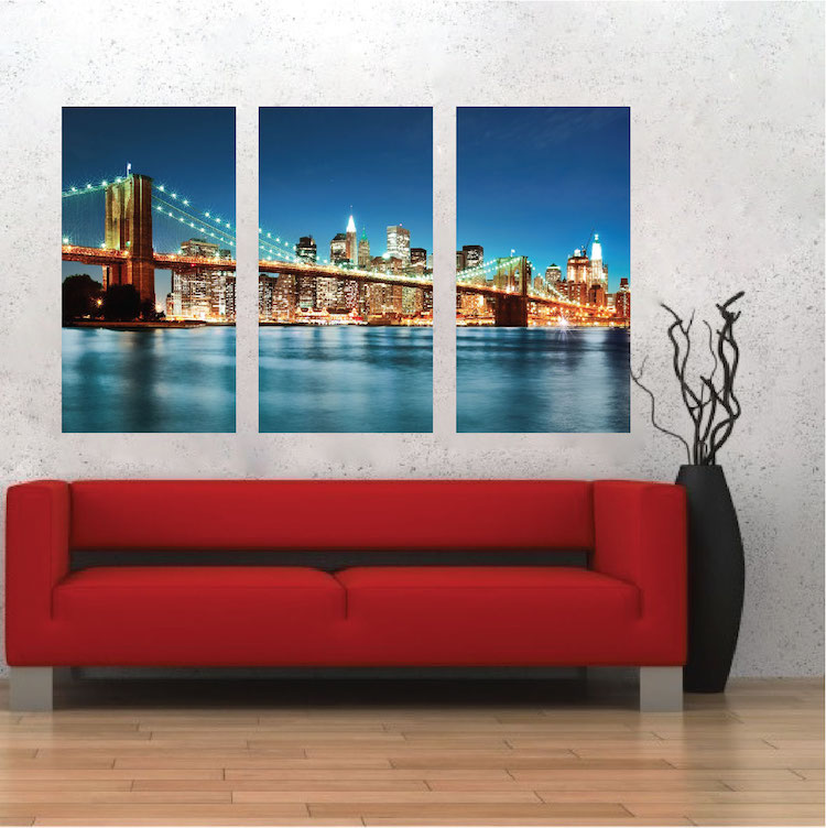 New York City Skyline Mural Decal View Wall Decal Murals Primedecals