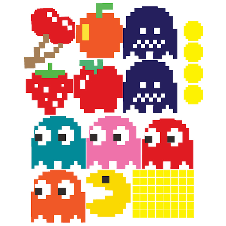 Pac Man Wall Decal Video Game Wall Decal Murals Kids
