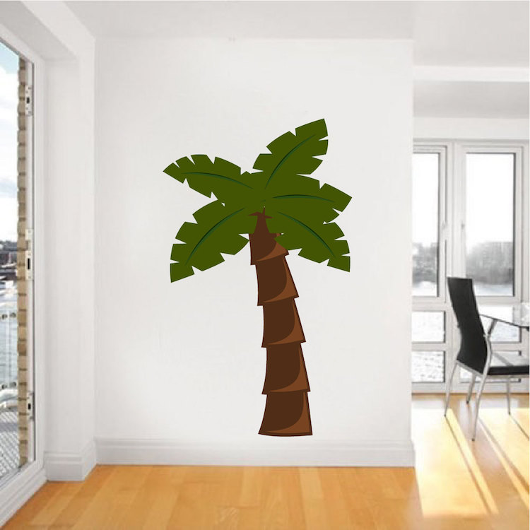 Nursery Palm Tree Mural Decal Nursery Wall Decal Murals Primedecals