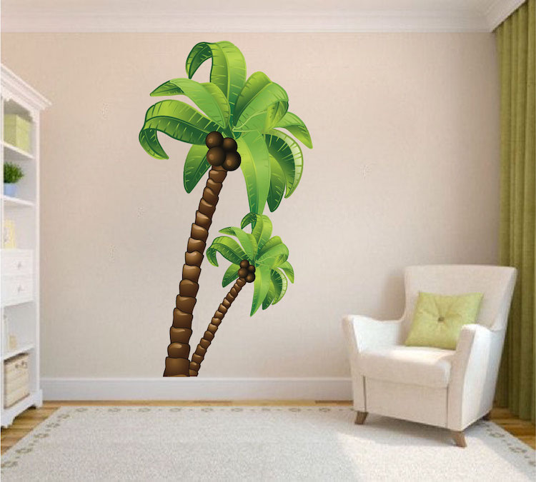 Perfect Palm Tree Wall Mural Decal - Large Wall Decal Murals - Primedecals ZF04