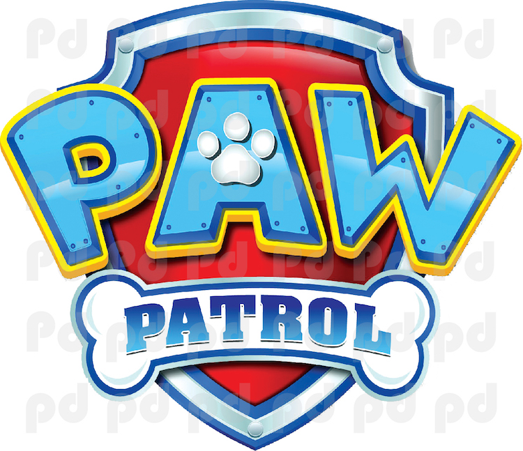 Paw Patrol Logo Wall Decal Paw Patrol Kids Bedroom Wall