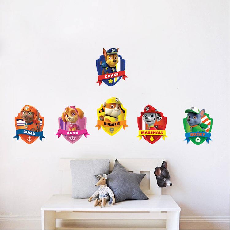 Paw Patrol Kids Wall Decal Decor Paw Dog Birthday Party Theme