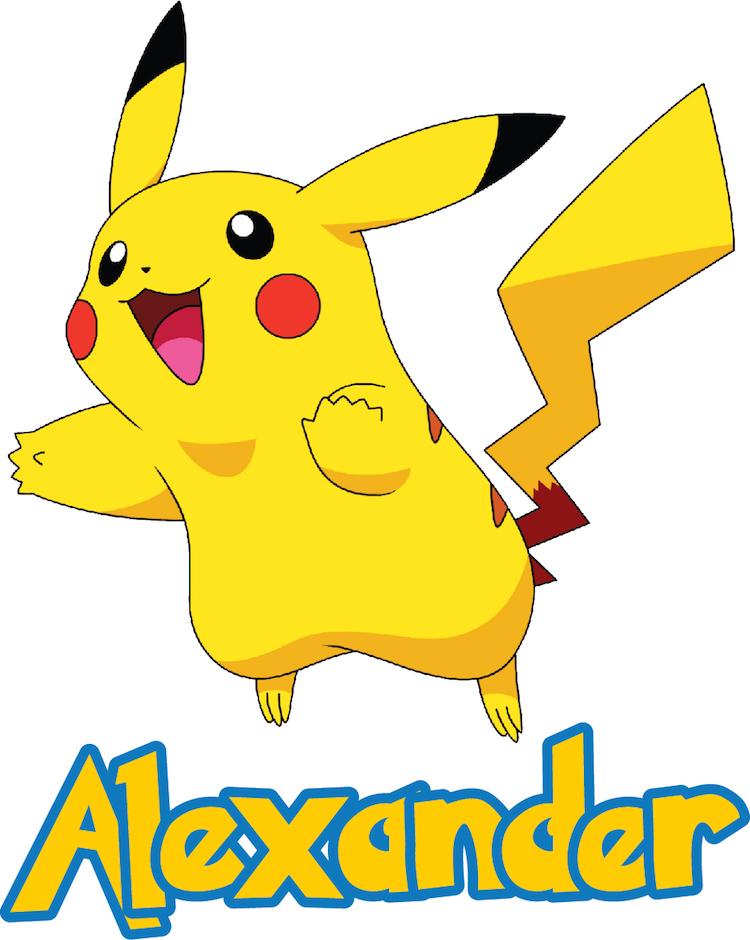 Kids Custom Pikachu Pokemon Name Decal - Pokemon Room Themed Decor ...