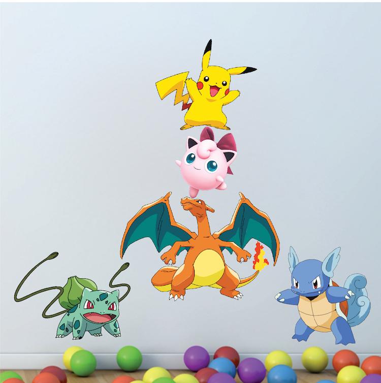 Stickers Pokemon.Pokemon Character Wall Graphics