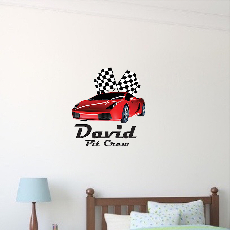 Red Ferrari Race Car For Boys Room