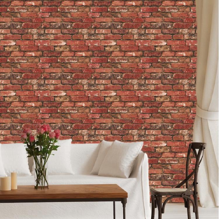 Red Bricks Wallpaper Decal Self Adhesive Brick Wallpaper