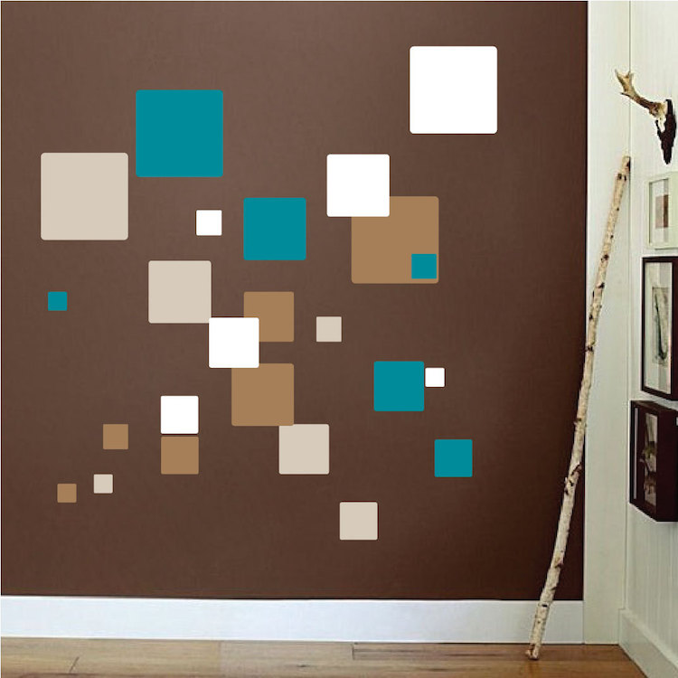 Square Wall Mural Decals Living Room Wall Decal Murals