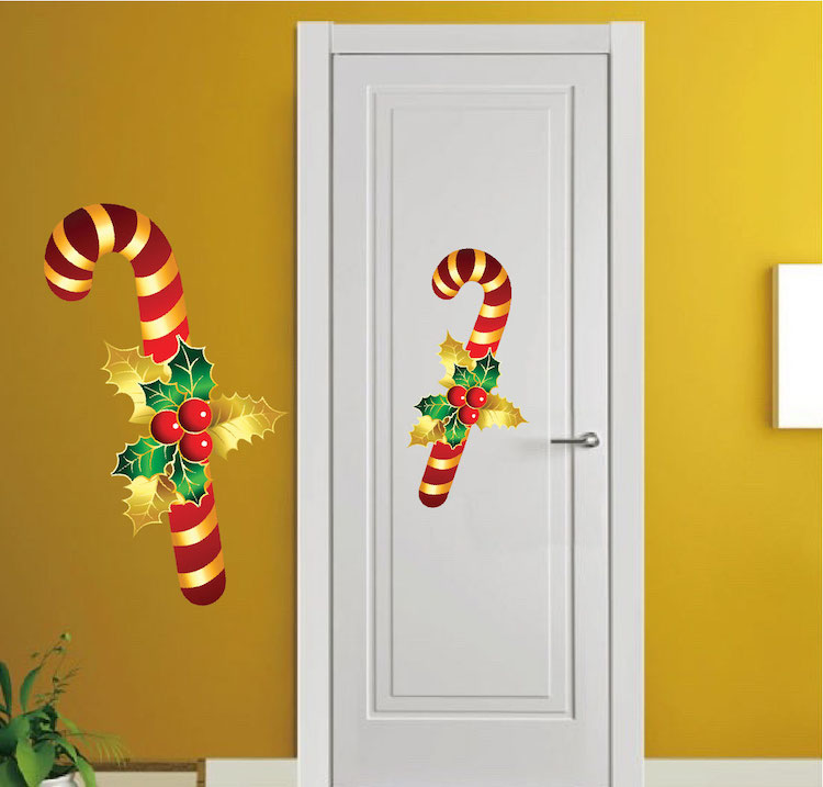 Candy Cane Wall Decal Christmas Murals Primedecals