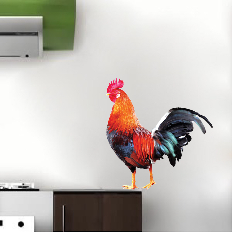 Rooster Wall Decal Sticker Rooster Wall Art Decor