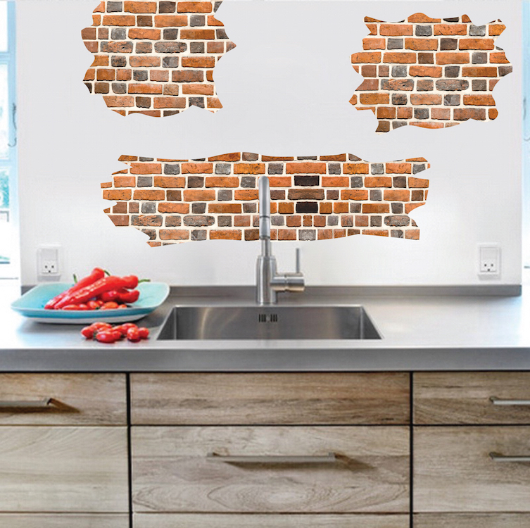 Brick Self Adhesive Wall Decals Brick Wallpaper Decal Murals