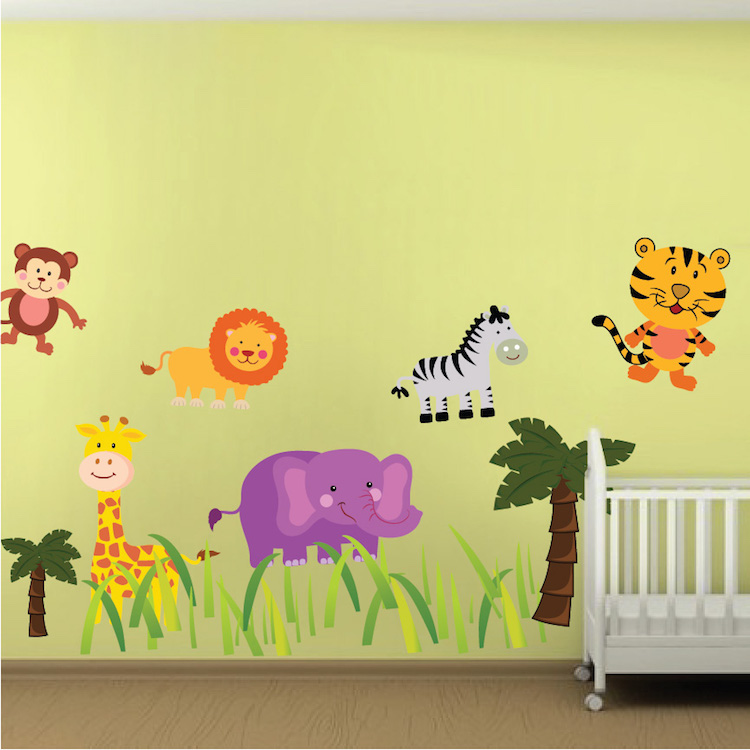 Nursery Zoo Wall Mural Decal
