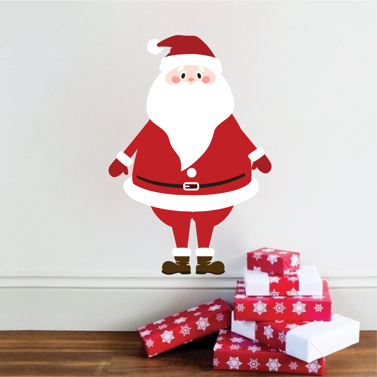 Christmas Santa Wall Decal Mural