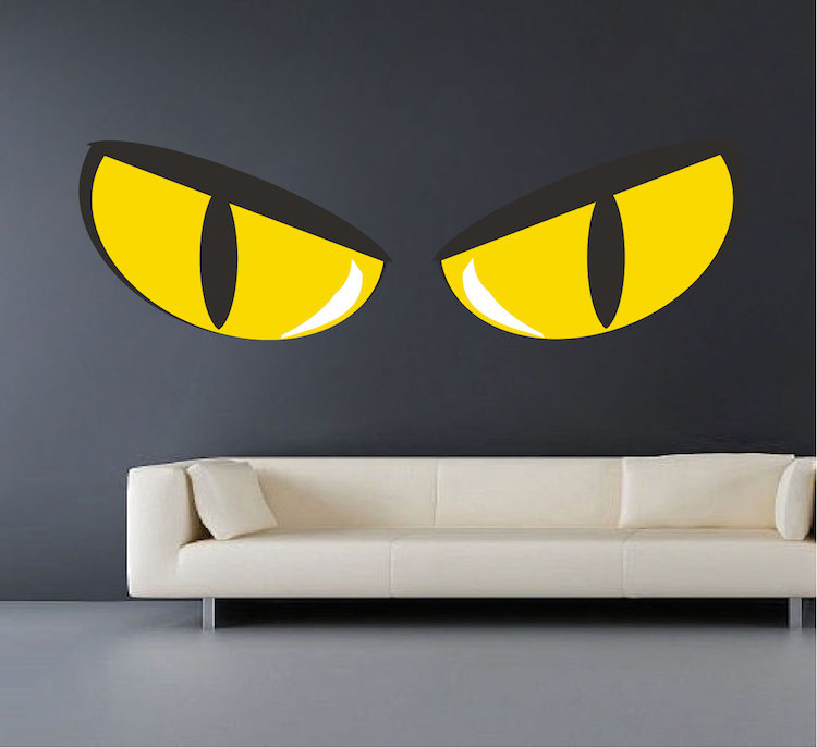 Scary Eyes Wall Decal Halloween Stickers Primedecals