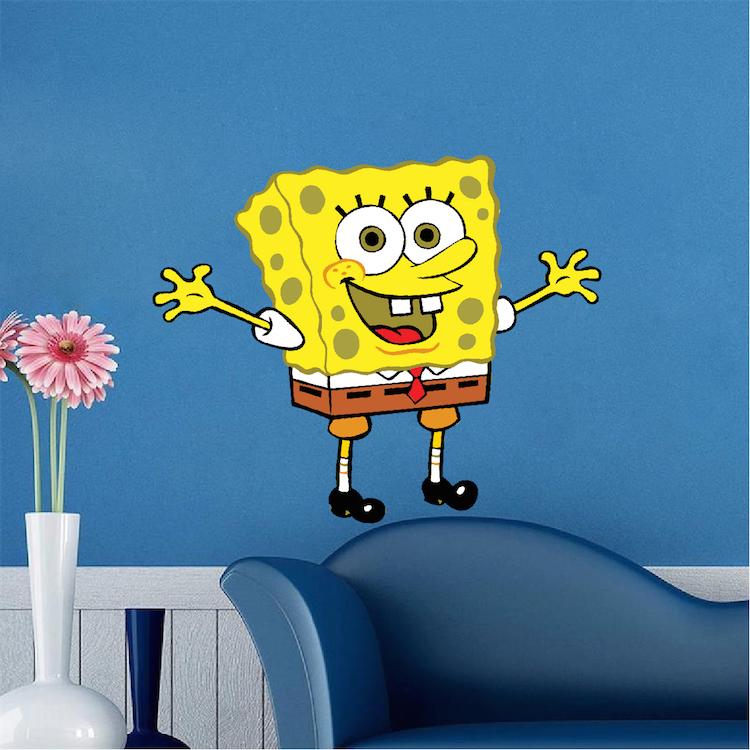 Spongebob Bedroom Decal Mural Spongebob Wall Stickers Sponge Bob