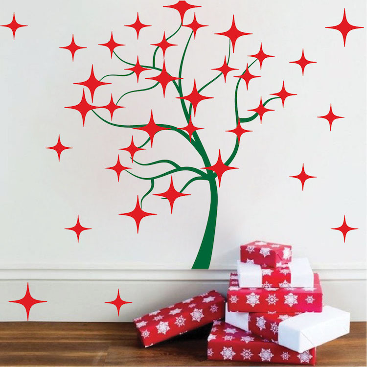 Tree Stars Wall Decals - Christmas Murals - Primedecals