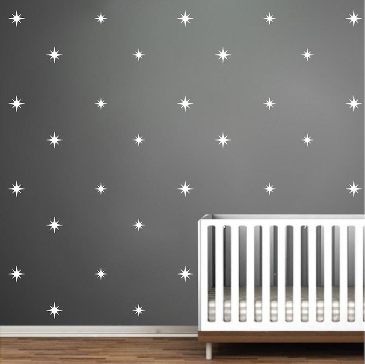 star wall decals - star wall designs - nursery star wall decals