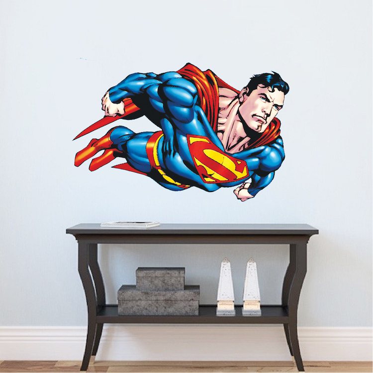 Superman Flying Wall Decal Superman Bedroom Wall Decal