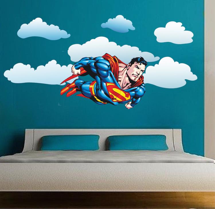 Superman Vinyl Decal-Superhero-Old School