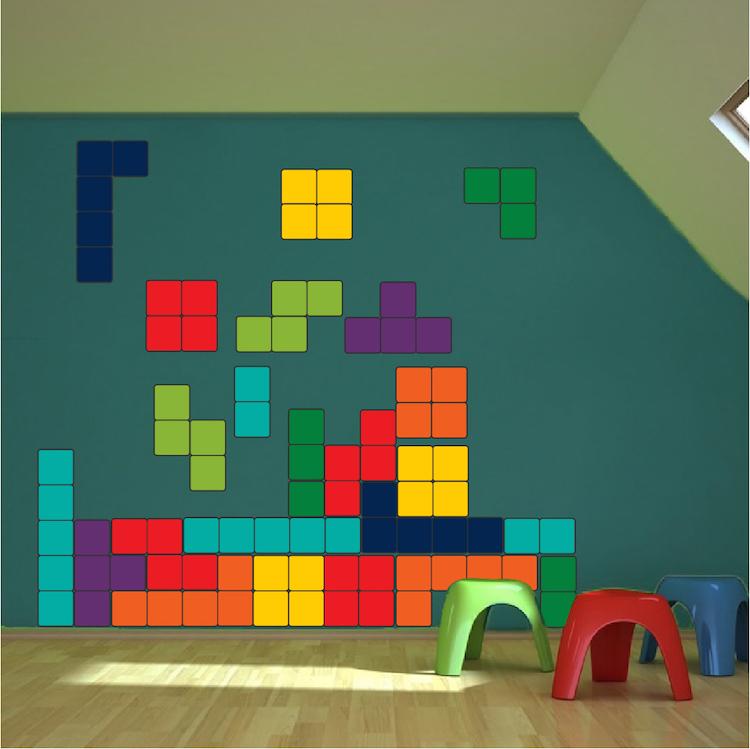 Classic Tetris Wall Mural Decal
