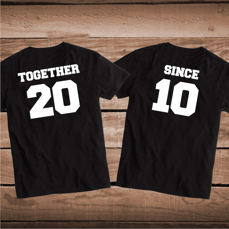 c26ac83c62adf Together Since Couple Matching Shirts
