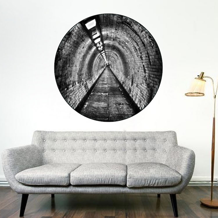 Tunnel Mural Decal Circle Wall Decal Murals Primedecals