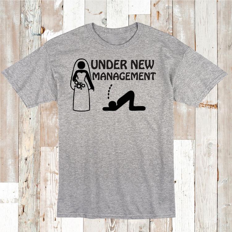 Under New Management  Stag Night Wedding Mens T-Shirt  Size S-XXL
