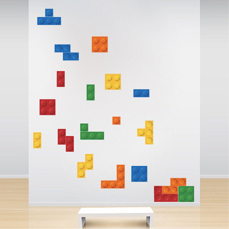 Colorful Game Room Wallpaper Decal