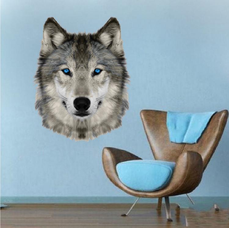 Wolf Head Wall Mural Decal
