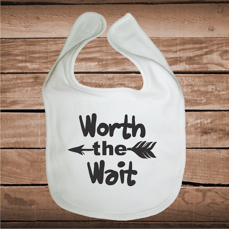b8a7ffbdb Worth The Wait Cute Baby Crawler _ Clever Sayings Onesies for Kids _ ...