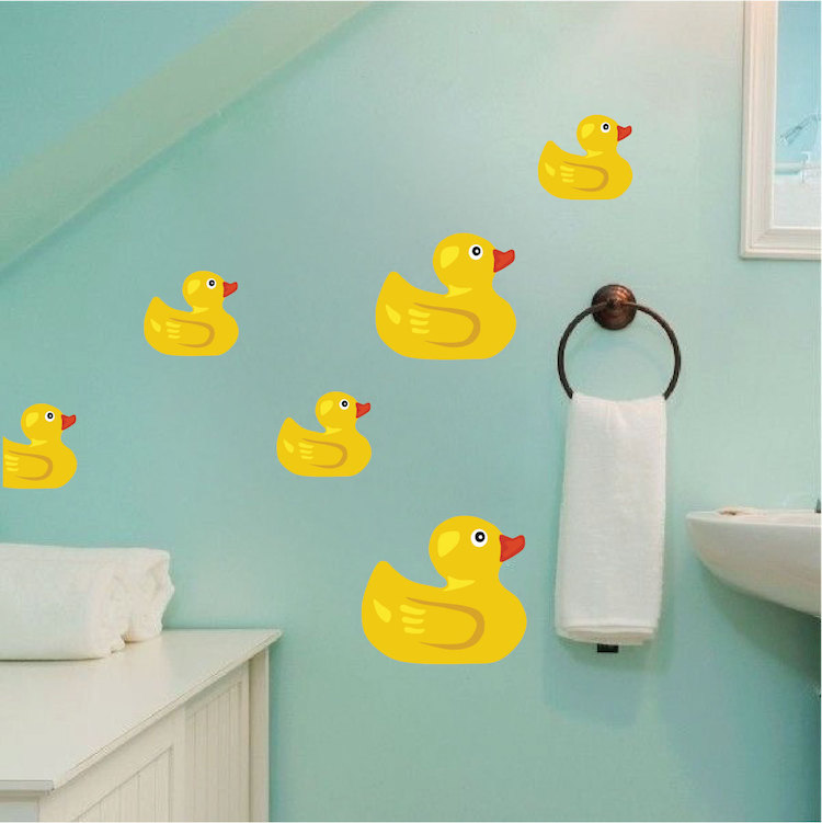 Rubber Duck Wall Mural Decal - Bathroom Wall Decal Murals ...