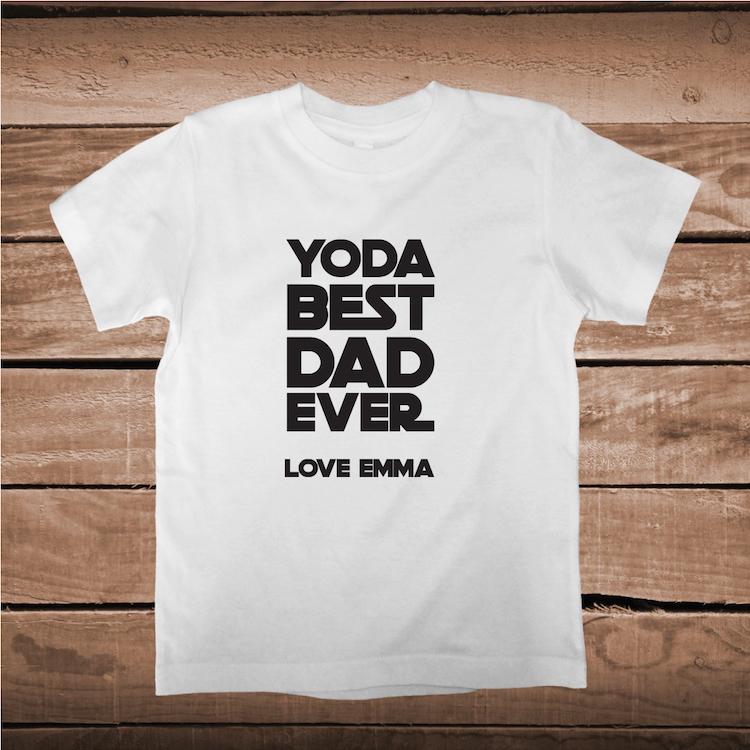 ec0cd3c8 Wonderful Yoda Best Dad Ever Custom Tee Gift _ Father Star Wars T-Shirts _