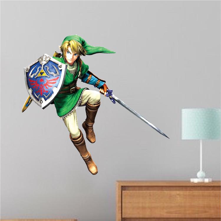 Zelda Video Game Room Wall Decal Decor
