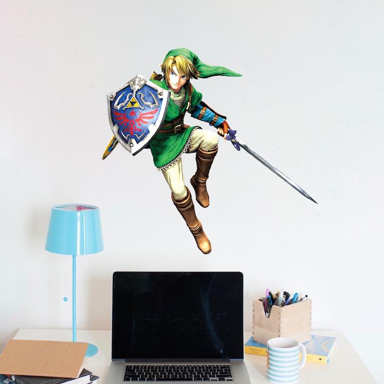 Zelda Video Game Room Wall Decal Decor Zelda Bedroom Wall Mural Decal Sticker Video Game Murals Primedecals