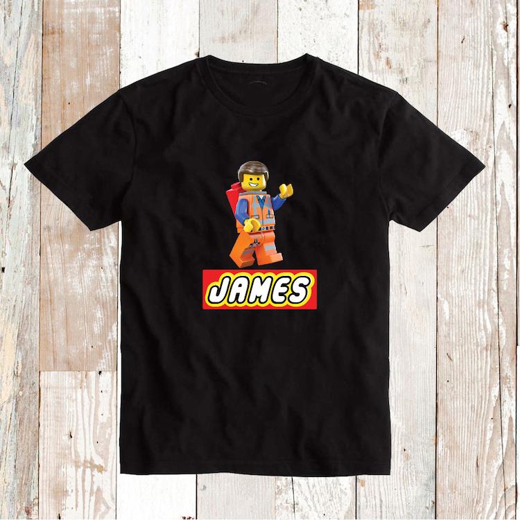 Lego Movie Emmet Custom T Shirt With Name Custom Tees