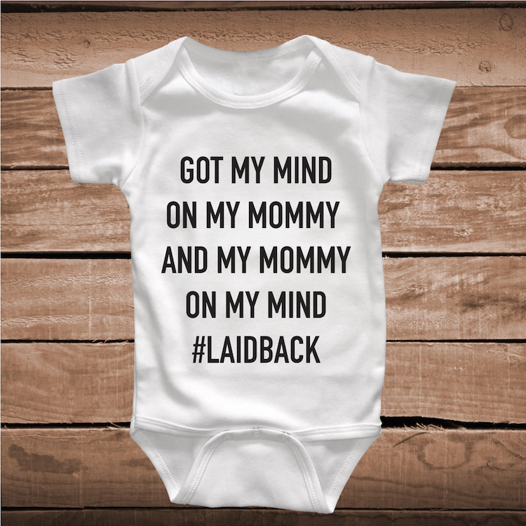 My Mind On My Mommy Song Lyric Funny Onesies and Tees _ Toddler and ...