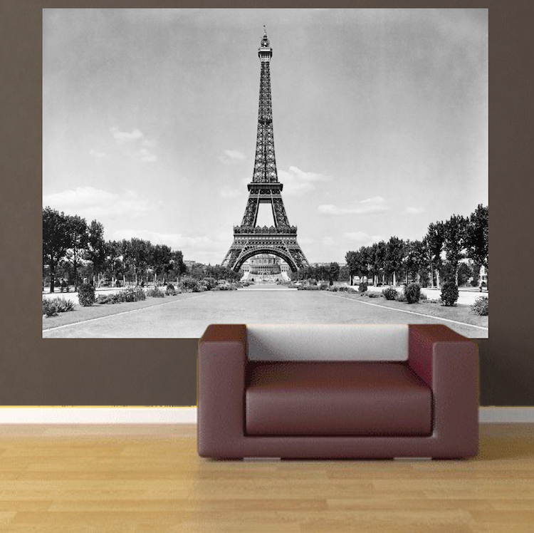 9cd1c2dd5e8 Eiffel Tower Wall Mural Decal - France Wall Decal Murals - Primedecals
