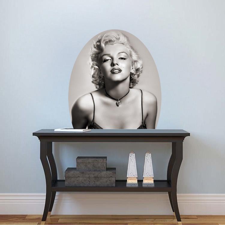 Marilyn Monroe Mural Decal Hollywood Wall Decal Murals