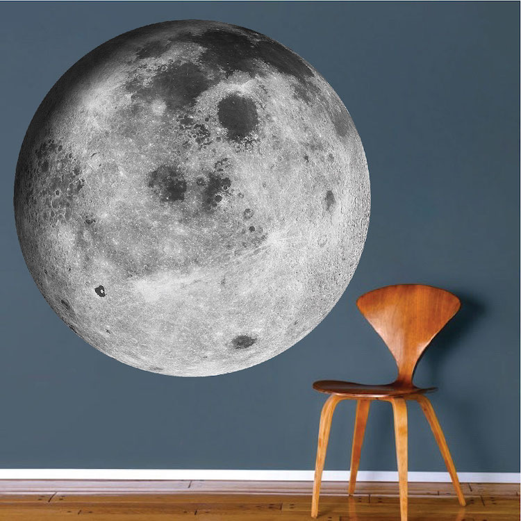 moon wall mural decal - space wall decal murals - primedecals
