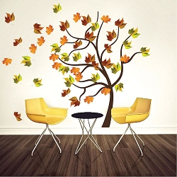 Autumn Tree Wall Decal Mural