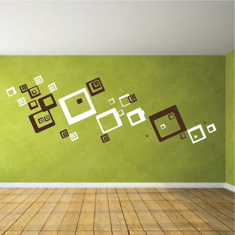 square shaped wall decals square and rectangle wall art shapes