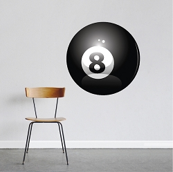 8 Ball Wall Decal