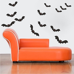 Halloween Bats Wall Mural Decals