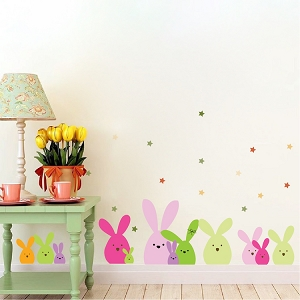 Easter Bunny Wall and Window Stickers