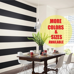 Custom Wall Stripe Decal Wall Tape In Many Sizes and Colors