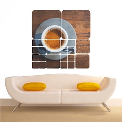 Rustic Coffee Wall Mural Decal