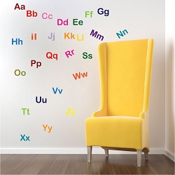 Alphabet Wall Mural Decal