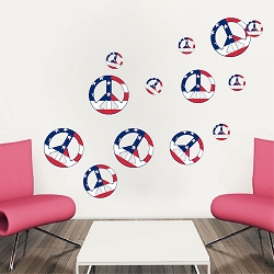 Peace Signs Wall Mural Decal