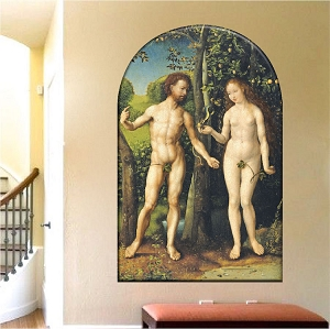 Adam and Eve Wallpaper Decal Mural